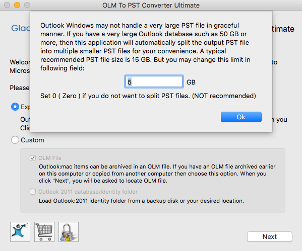 how to move from outlook mac to outlook window