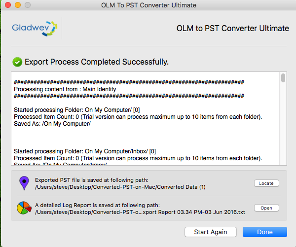 how to move olm files