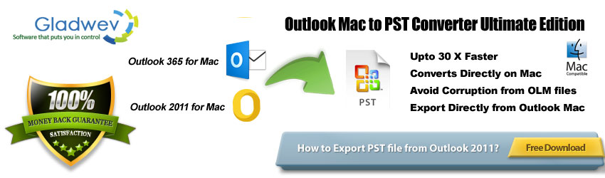 export outlook 2011 to pst