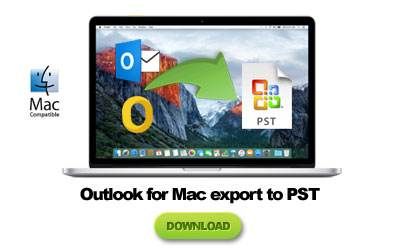 outlook mac export pst